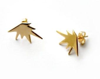 Explode Stud Earrings / Tiny graphic stud earrings / HANDMADE IN NYC