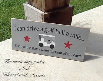 Golf sign, golfing signs, golf gifts, golf gift, man cave sign, man cave decor, golf signs, wood golf sign, rustic golf sign