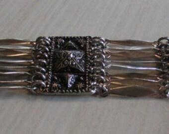 Beautiful Bold Sterling Taxco Link Bracelet