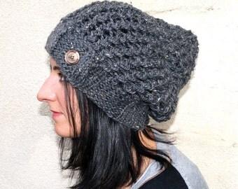 "Grey bonnet ""Bernie"". knitted hand | accessorized"