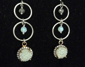 White Druze Earrings!