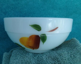 """Fire King Fruit Gay Fad Colonial Band 6"""" Mixing Bowl Smallest"""