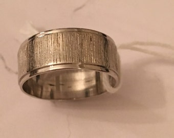 9ct white gold wedding band assay exeter 1878