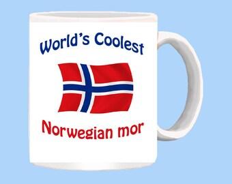 World's Coolest Norwegian mor (mother) mug