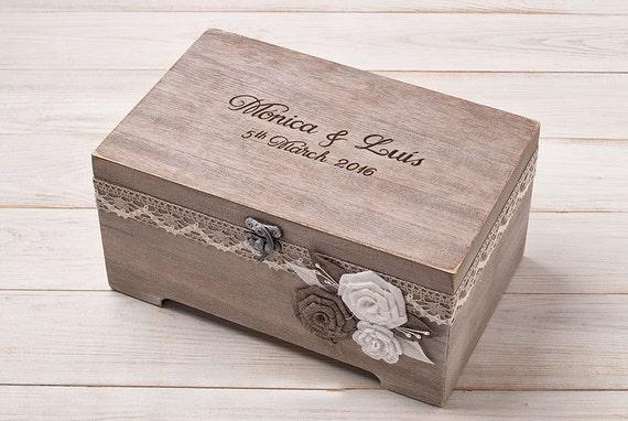 Rustic Wedding Card Box Card Holder Personalized Card Box Wedding ...