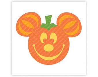 Disney, Pumpkin, Icon Mickey Mouse, Icon Minnie Mouse, Halloween, Mouse Ears, Illustration, TShirt Design, Cut File, svg, pdf, eps, png, dxf
