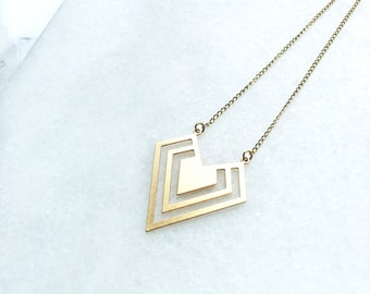 Necklace Triangle Gold / Goldfilled 18K / BAMBI Boutique / JN07