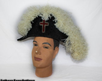 Chapeaus Knights of Templar Plume Hat w/ Carrying CASE!