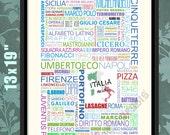 My Italy, Italia Mia, Italian Print, Italian Art, Italian Wall Art, Italian Poster, Italian Decor, Italian Gift, Gift to an Italian, Italy