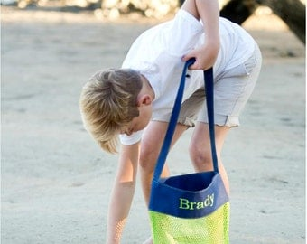 NEW Boys Monogram Beach Mesh Bag