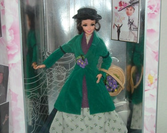"""SALE/5.00 OFF!Barbie as """"Eliza Doolittle"""" Audrey Hepburn is The Flower Girl from """"My Fair Lady""""/Hollywood Legends Collection/New in Box."""