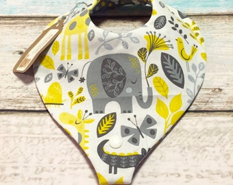 Sunshine Jungle Paci/Teether Bib
