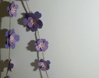 Garlands of flowers, paper flowers, ornaments, garland flowers