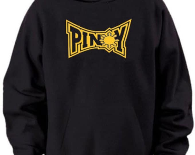Pinoy Tap-out Black Hoodie Sweater Pacquiao Large Clearance
