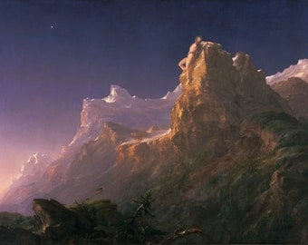 Prometheus Bound by Thomas Cole, in various sizes, Giclee Print on Canvas