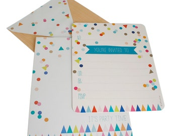 Confetti Party Invitation Kit - 15 Pack
