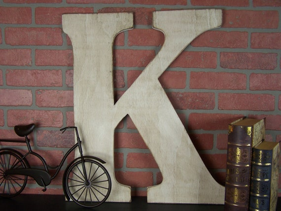 Large Wooden Letters For Wall Decor : Large letter wall decor wedding rustic country