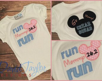 Ready to Ship ***RTS*** Boutique Custom RunDisney Run Mommy Tee**MDCT**Sample Sale size 5