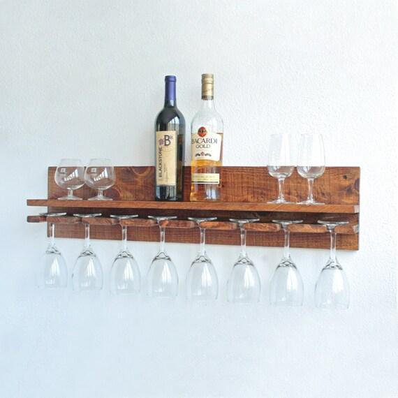 Wine Glass Rack Hanging Wine Glass Rack Rustic Wine Glass