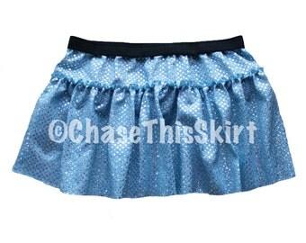 Light Blue Sparkle Running Skirt   Princess Running Costume