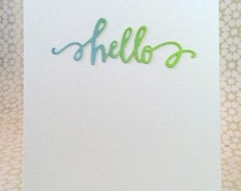 Hello / Notecard / Folded Notecard / Watercolor