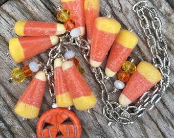 Halloween Accessory for Car | Halloween Car Charm | Candy Corn Car Charm | Pumpkin Car Charm | Halloween Decor