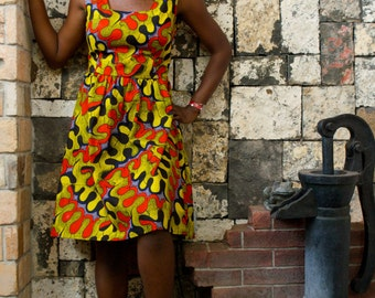 Colorful dress Assiye