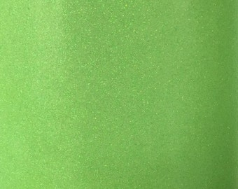 Neon Green Glitter Vinyl 9 x 12 Inch Sheet NOT WASHABLE