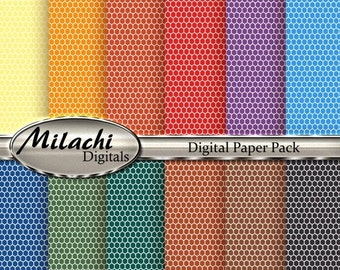 70% OFF SALE Honeycomb Digital Paper Pack - Commercial Use - Instant Download - M43