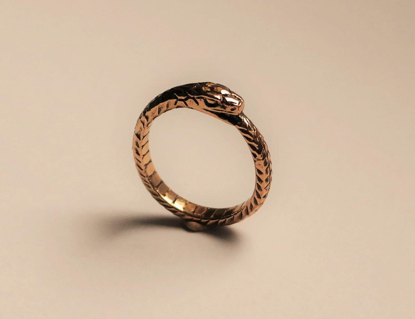 unisex wedding band unisex wedding bands Ouroboros bronze ring handmade brass ouroboros ring