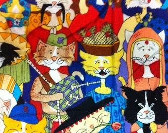 3 Kitty Cat Hair Scruchies, Hair Ties, Ponytail,Women Hair Accessories