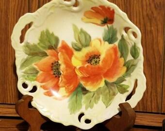 Orange Poppy Plate
