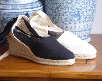 Wedge espadrilles with ribbons - mumishoes
