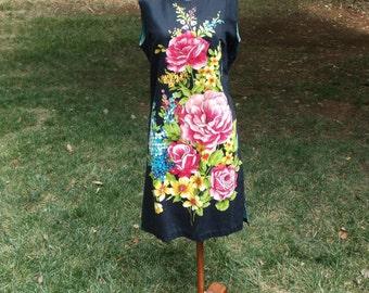 "Vintage 1960s "" Miami Originals"" floral shift  dress"