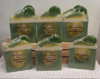 Lime In The Coconut goats milk soap