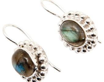 Labradorite Silver Plated Earrings SC2546