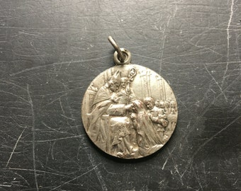 Pope blessing / dove of peace pendant / silver