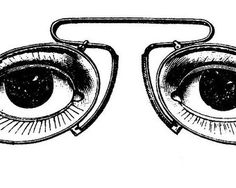 Vintage eyes - temporary tattoo