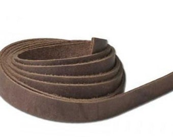 """Leather String 1/2"""" x 48"""" (13 x 1.2 m) Brown 5008-12"""