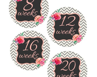Weekly Pregnancy Stickers, Pregnancy Announcement, Pregnancy Belly Stickers, Pregnancy Photo Prop, Maternity Stickers, P39