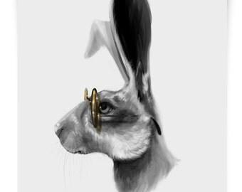Hare - B&W