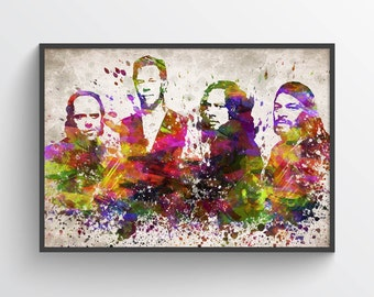 Metallica In Color Poster, Home Decor, Gift Idea