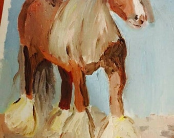 Gypsy  horse oil painting