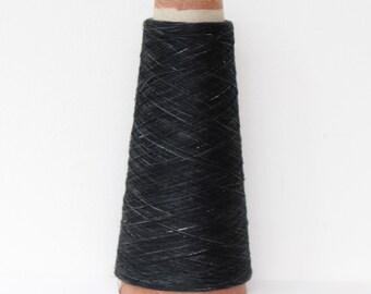 Hand Dyed Silk Yarn- Black