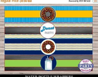 50% OFF 70 Percent OFF Donut Party  Editable water bottle wrappers, Coordinating items are available for purchase, great for any type of par