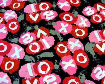XOXO~Graffiti Style  Love and Kisses Fabric~by the 1/2 yard~Springs Creative~Valentines