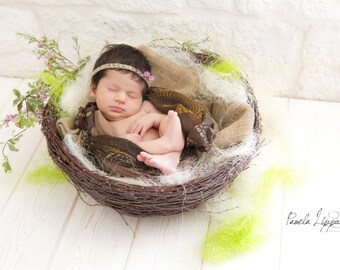 Wood Nest, Owl Nest, Bird Nest, Newborn Photography, Photo Prop, Newborn Nest, Newborn Nest, Newborn Prop, Photography