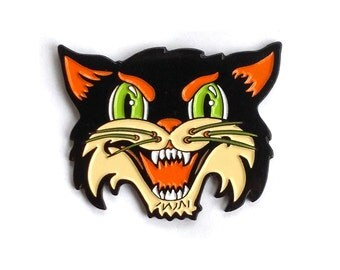 Halloween Cat (enamel pin)