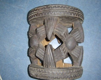african handcarved wooden stool
