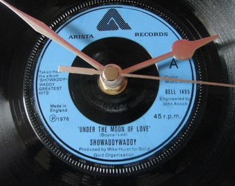 "Showaddywaddy under the moon of love  7"" vinyl clock"